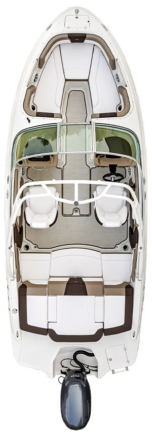 Overhead view of the  Chaparral 21 SSi OB