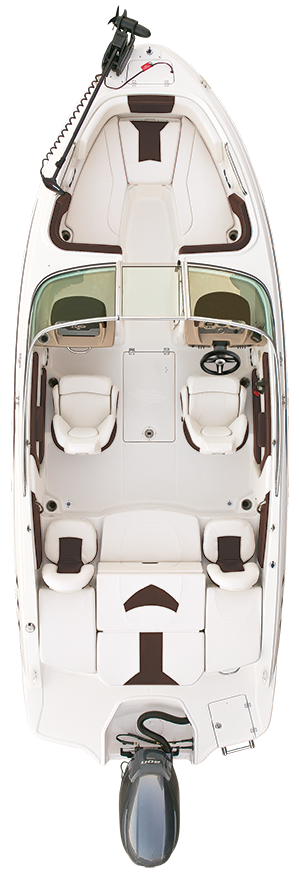 Overhead view of the  Chaparral 21 SSi OB Ski & Fish