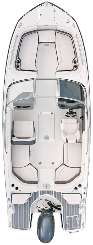 Overhead view of the  Chaparral 230 SunCoast