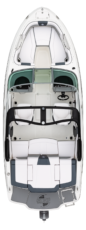 Overhead view of the  Chaparral 21 SURF
