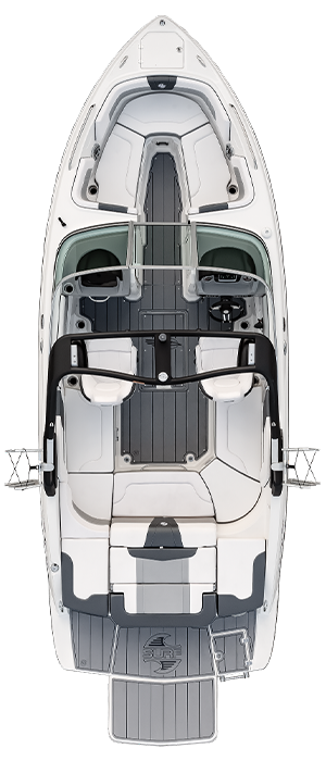 Overhead view of the  Chaparral 23 SURF