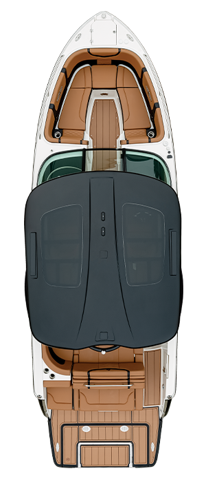 Overhead view of the  Chaparral 28 SURF