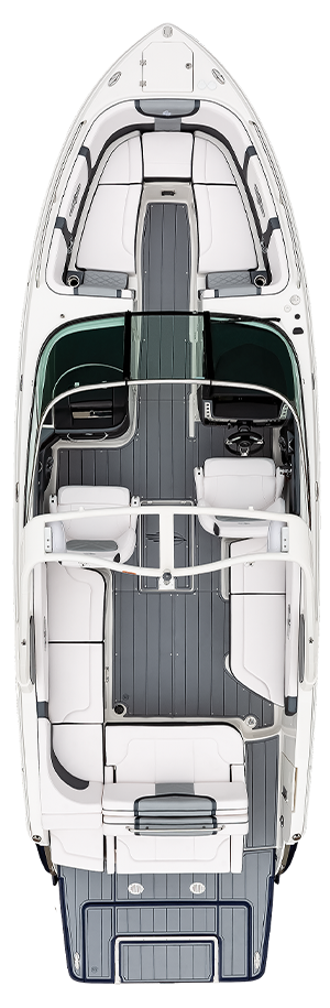 Overhead view of the  Chaparral 30 SURF
